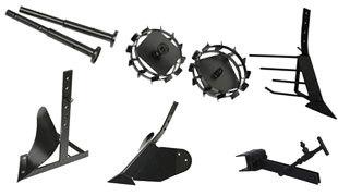 комплект насадок для FJ500 (грунтозацепы, удлинитель, плуг, картофелевыкапыватель, окучник, сцепка) в Гдове